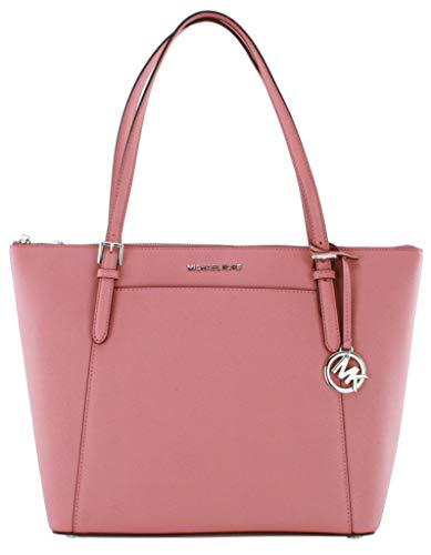 Michael Kors Ciara Shopper Tasche Jet Set Travel Saffiano-Leder Handtasche, Pink - Hot Rose Pink - Größe: Large