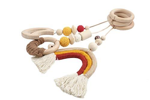 let's make おもちゃ ベビージム用 ペンダント 3点セット タペストリー 赤ちゃん プレイジム 知育玩具 虹のインテリア ベビールーム装飾 北欧風 出産お祝い 誕生日 プレゼント