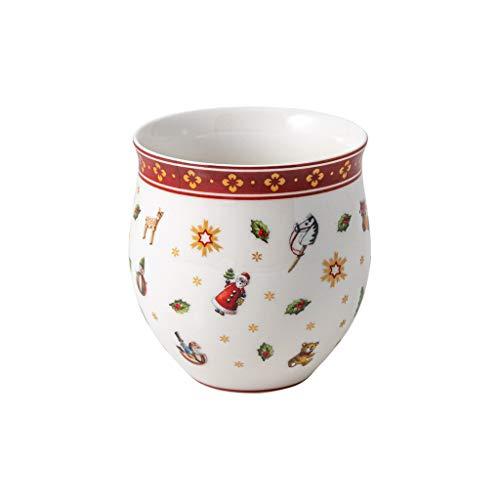 Villeroy & Boch - Toy's Delight vaso sin asa, taza festiva para café y té, porcelana Premium, multicolor/dorado/blanco, 290 ml