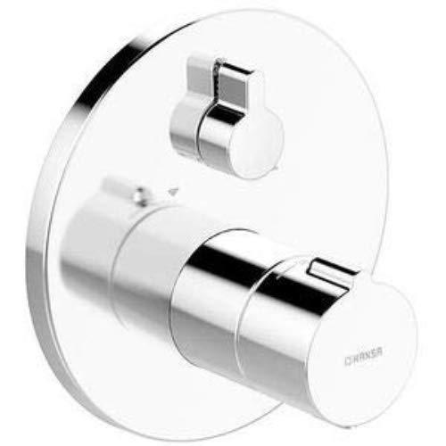Hansa 88623045 Wannenbatterie / Thermostat-Batterie   mit Sicherungseinrichtung, Sicherheitssperre bie 38°C, Schalldämpfer   Durchflussmenge: 22/22 l/min bei 3 bar