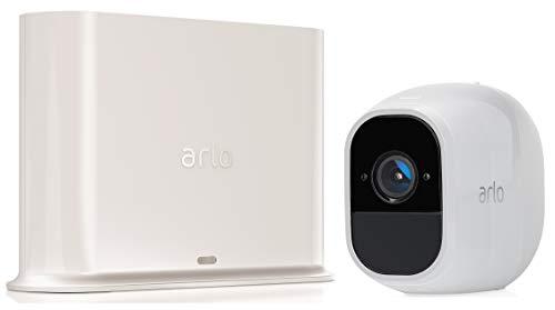 Arlo Pro 2 | Caméra de surveillance 100% Sans Fils - Pack de 1, batteries rechargeables, Alarme 100 dB, Son bidirectionnel, 1080p Jour et Nuit, Étanche IP65 Intérieur/Extérieur (VMS4130P)