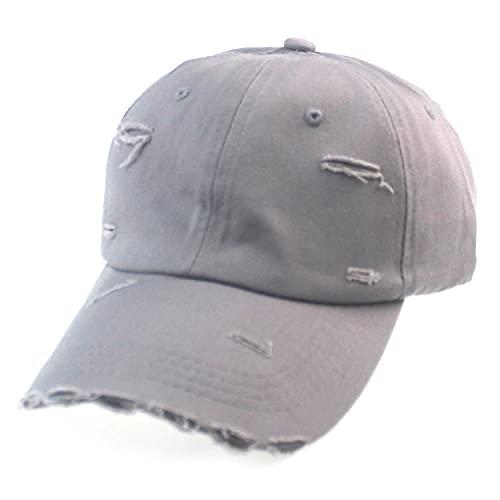 Nueva Gorra de béisbol Lavada con Bordes de Color sólido para Hombre, Sombrero Informal con sombrilla, Gorra Rasgada-6