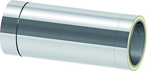 kürzbares Längenelement 500mm Länge mit integriertem Wandfutter für doppelwandige Schornsteine DW; Innen/Außen je 0,5 mm Wandstärke; Ø 150mm Innendurchmesser, Edelstahl