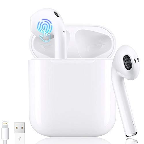 Bluetooth Kopfhörer,In-Ear Kabellose Kopfhörer,Bluetooth Headset,Sport-Kopfhörer,3D-Stereo mit 35H Ladekästchen und Integriertem Mikrofon Auto-Pairing für Airpod/Android/IOS