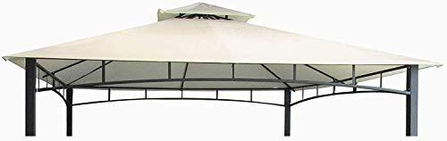 MLI Telo di Ricambio per Gazebo 3X3, Top di Copertura 15130 PVC da 220 gr Ecru con Tetto Camino Antivento Impermeabile Anti Pioggia