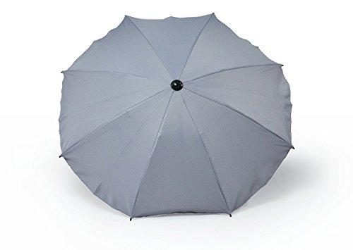 Sombrilla y paraguas universal para carros y sillas de bebé, con soporte universal, protección contra rayos UV 50+ gris gris