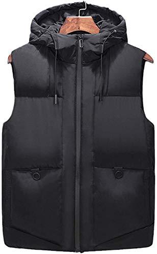 Chalecos con capucha de los hombres de invierno Outwear sin mangas chaqueta engrosamiento para hombre chaleco otoño hombres chaleco casual cortavientos