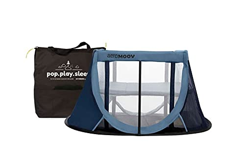 Aeromoov ASATC11060BW - Cuna de Viaje para bebé plegable e instantánea con colchón configurable a dos alturas y bolsa de...