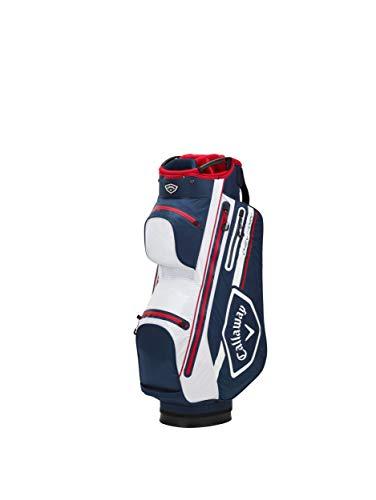 Callaway Men\'s Bags Golf Chev Dry Cartbag, Marineblau/Weiß/Rot 2021, Einheitsgröße