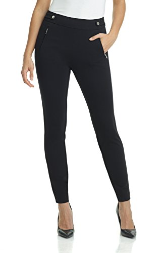 Rekucci Women's Secret Figure Pull-On Knit Skinny Pant (8,Black)