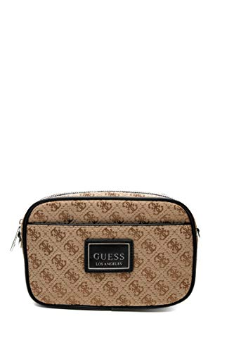 Guess Handtasche Dan Herren Logo 4G/braun, Beige One size