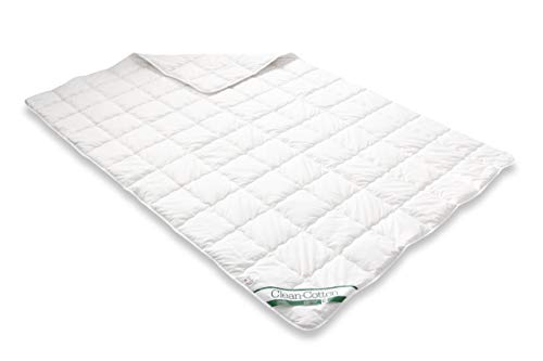Badenia Bettcomfort Steppbett Clean Cotton leicht, 135 x 200 cm, weiß