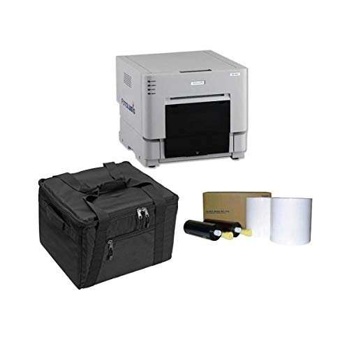 """DNP DS-RX1HS 6"""" Dye Sublimation Printer, 290 4x6 Prints Per Hour - Bundle - with 4x6 Media, 700 Prints Per Roll, 2 Rolls and Protective Carrying Case"""