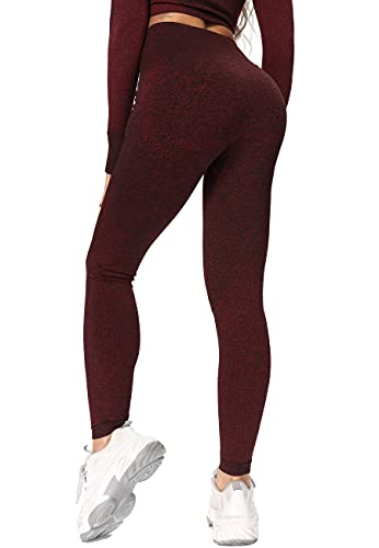 STARBILD Legging Sport Femmes Sans Coutures Avec Mailles Taille Haute Pantalon de...