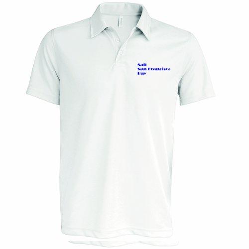 Polo pour Homme, Sail Sanfranciso Bay, Blanc, Med au 2 x L - Blanc - Large