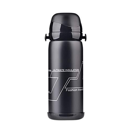 Longyitrade - Hervidor para botella de agua al vacío de 27 onzas, recipiente para bebidas deportivas de escalada para ciclismo al aire libre de acero inoxidable portátil, Negro
