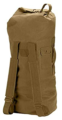 Rothco G.I. Style Canvas Double Strap Duffle Bag, Coyote Brown