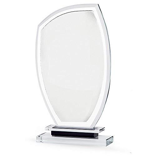 Trofeos Martínez - Trofeo de Cristal Personalizable con Estuche Incluido 25x13cm.