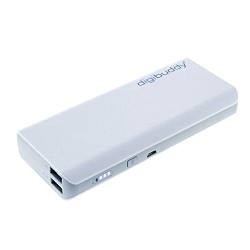 digibuddy Powerbank 11000mAh, Dual USB Externer Akku mobiles Ladegerät für iPhone Samsung HTC Apple Android Tablet Handy und Smartphone