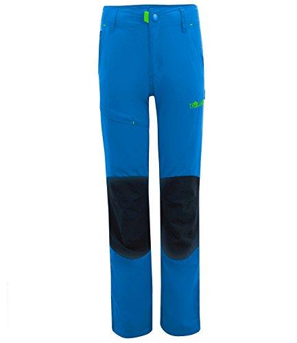 Trollkids Kinder Trekking Hose Hammerfest Slim Fit, Mittelblau, Größe 146