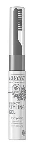 lavera Style und Care Eyebrow Gel ∙ Farbe transparent ∙ Augenbrauen & Wimpern Gel ∙ Natural & innovative Make up ✔ Bio Pflanzenwirkstoffe ✔ Naturkosmetik ✔ Augen Kosmetik 1er Pack 1x 9 ml
