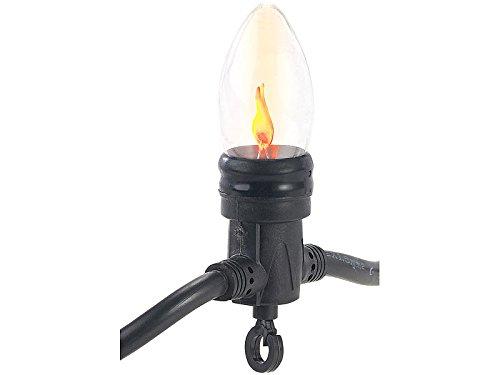 Lunartec Zubehör zu Flammen Glühbirne: Ersatz-Birne für Deko-Lichterkette in Flammen-Optik, 5 lm, 1,45 Watt (Flacker Glühbirne)