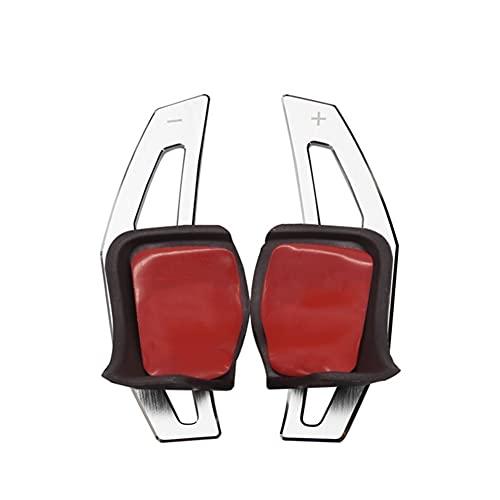 Padillas de cambio Diseño De Coche Para Volks-wagen V-W Tig-uan Go-lf MK6 G-TI Jet-ta MK5 Pa-ssat B6 CC Sciro-cco R36 R20 Volante Paletas De Cambio De Aluminio (Color : Silver)