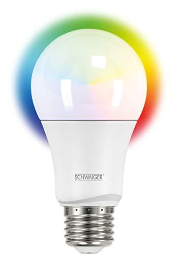 SCHWAIGER -HAL300- LED-Lampe   E27   dimmbar   smarte LED-Glühbirne   RGB, warmweiß, kaltweiß, neutral   Lichtsystem   Smart Home
