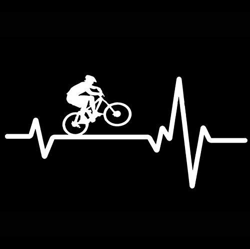 YOUYOUY 2Pcs Autoaufkleber 16.9Cm*7.9Cm Cycling Mountain Bike Helmet Heartbeat Decal Vinyl