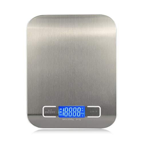 Dingziyue Keuken elektronische weegschaal Digital Precision Analytical Eten Balance 5KG / 1G (Color : Silver)
