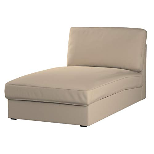 Dekoria Kivik Recamiere Sofabezug Husse passend für IKEA Modell Kivik, grau-braun