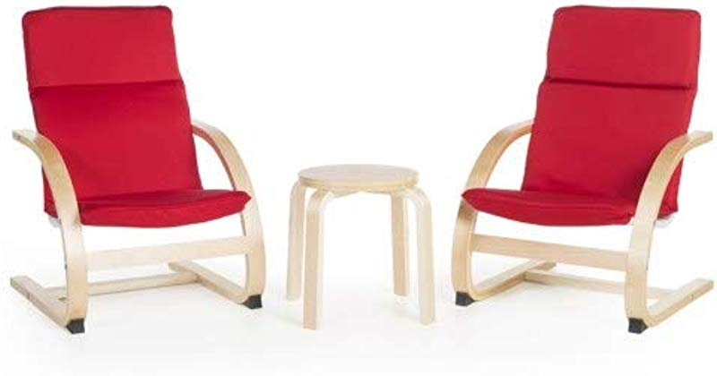 Kiddie Rocker Chair Set Red