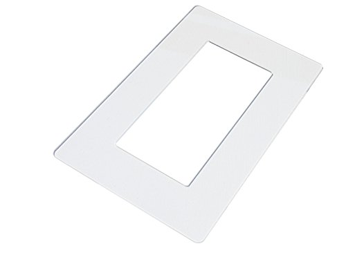 kekef Acrylglas Dekorrahmen brillant glasklar groß 1-fach 2-fach 3-fach 4-fach, brillante Oberfläche, Tapetenschutz Wandschutz für Lichtschalter und Steckdosen (brillant 2-fach)