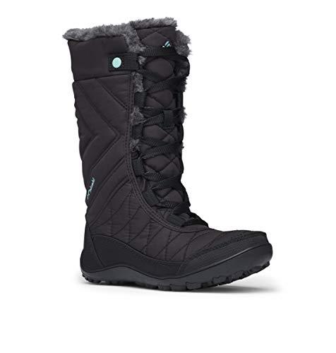 Columbia Młodzieżowe buty zimowe Minx Mid III WP Omni-Heat, czarny - Czarny jasnoniebieski Black Iceberg - 33 EU