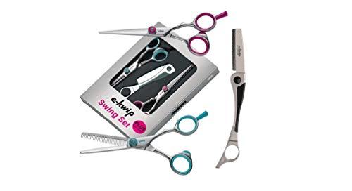 E-kwip Haarscheren Set Swing Set Plus inkl, Rasiermesser, 5,5 Zoll