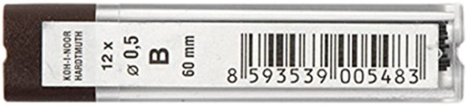 KOH-I-NOOR Fine Graphite Leads for 0.5mm Diameter 60mm B Mechanical Pencil