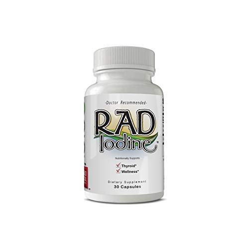 Rad Iodine - Organic Raw Thyroid Support, Improve Energy & Help Lose Weight, Boost Metabolism, Helps Fatigue