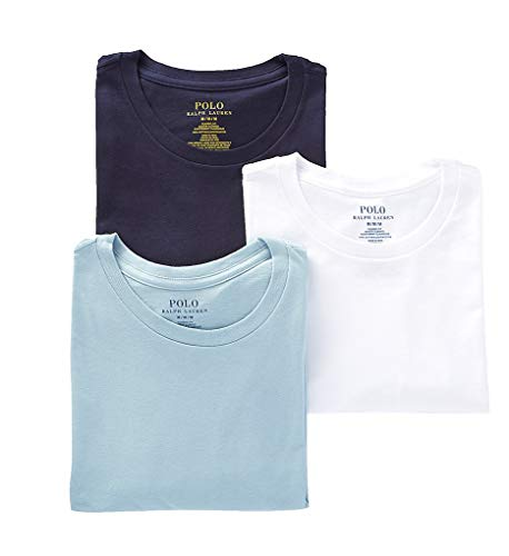 Polo Ralph Lauren Classic Fit Cotton T-Shirt 3-Pack, 2XL, Navy/Blue/White