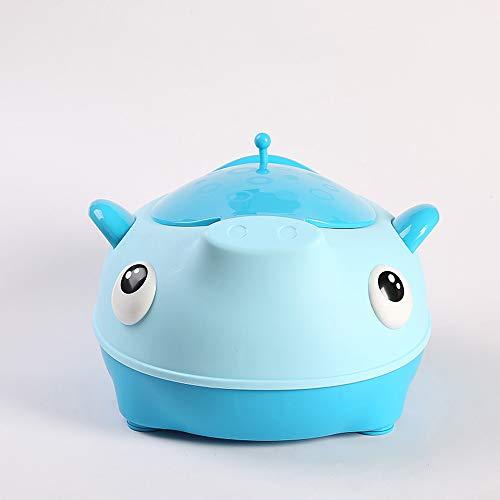 HKANG Toilette WC per Bambini Sedile Bambino Piccolo Allenatore Vasino Sedile del Water Formazione Vasino Design Portatile,Blue