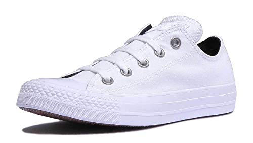 Converse Chuck Taylor CTAS Ox Canvas, Zapatillas de Deporte Mujer, Blanco (White/Black/White...