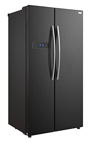 Russell Hobbs American Style Fridge freezer, 90cm wide, Side by Side, F efficiency, RH90FF176B- 2 Year Warranty** (Black)