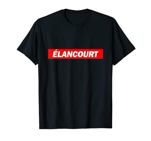 Élancourt Red Box Logo City Funny T-Shirt