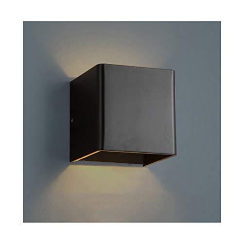 %Éclairage de chevet Applique Murale LED Couloir Décoration Couloir Escalier Couloir Lampe Murale (Couleur : NOIR)
