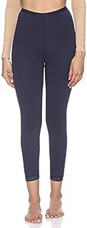 Pourelle Elastic-Waist High-Rise Lace-Trim Crop Underpants for Women M