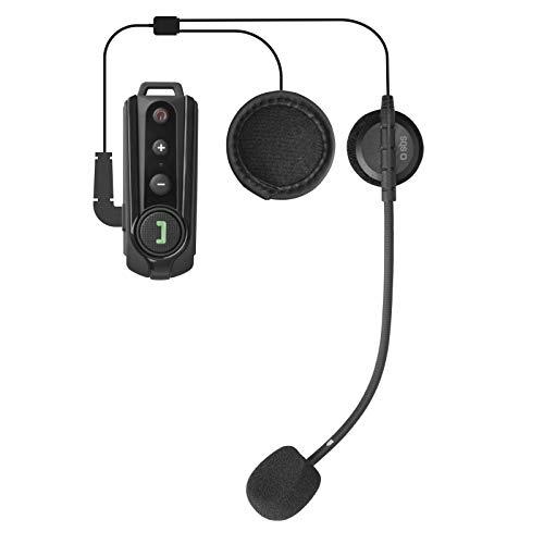 SBS Système de Communication Bluetooth pour Moto – Casque intercom 10 h d'autonomie, Suppression d'écho – Anti-Vent, Radio FM, résistant à l'eau – Kit Mains Libres sans Fil