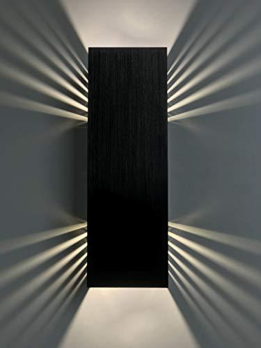 SpiceLED applique | BlackEdition | ShineLED-30 | 2x15W bianco | Effetto ombra | Lampada da parete a LED ad alta potenza dimmerabile