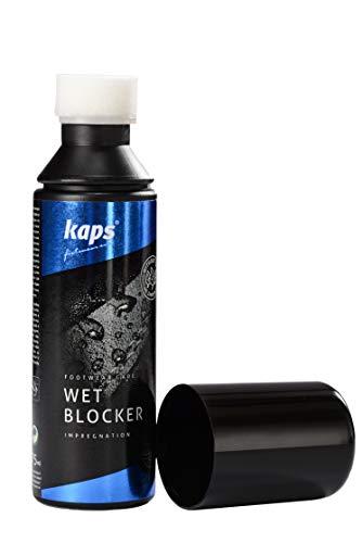 Kaps Protección Intensiva contra la Humedad y la Suciedad para Zapatos, Repelente al Agua, con Aplicador de Esponja, Wet Blocker