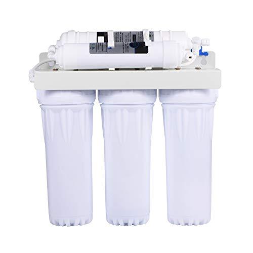 Purificador de Agua Potable de 5 Etapas, Filtro de Agua Osmosis Inversa, Sistema de Filtración de Agua Potable para Eliminar el Sedimento de Agua, Bacterias o Oxido