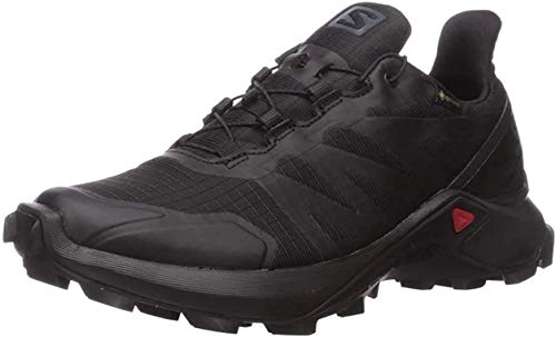 Salomon Women's Supercross GTX W Trail Running, Black/Black/Black, 6