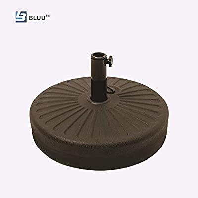 Umbrella Base Water Filled Stand Market Patio Outdoor Heavy Duty Umbrella Holder (Weight Base, Bronze)